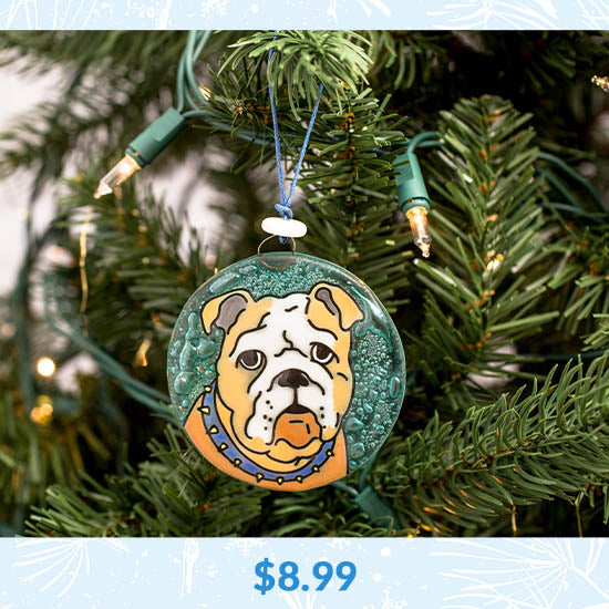 Dog Recycled Glass Ornament - $8.99