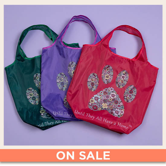 Until They All Have A Home™ Packable Shopping Totes - Set of 3 - On Sale