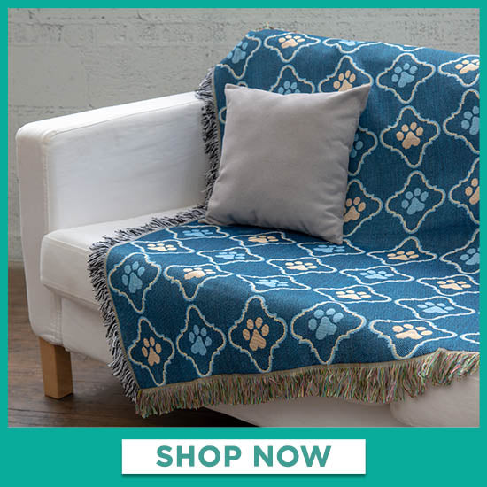 Cozy Paws Tapestry Throw Blanket - Shop Now