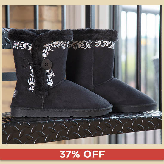 Swirling Vine Paw Print Boots | 37% OFF