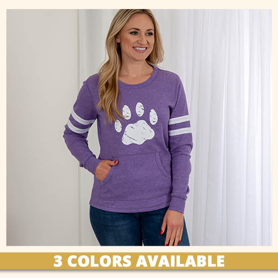 Paw Stripe Thermal Long Sleeve Top - 3 Colors Available
