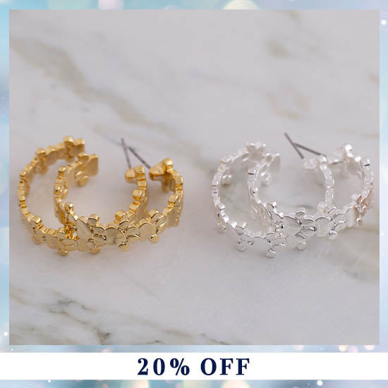 Paw Print Hoop Earrings - 20% OFF