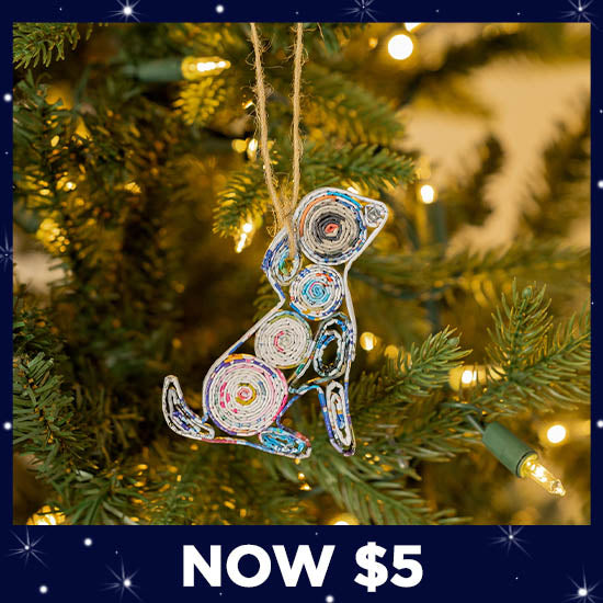 Recycled Magazine Furry Friend Ornament - Now $5