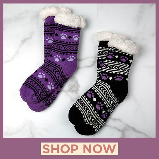 Super Cozy™ Paws Knitted Slipper Socks - Shop Now