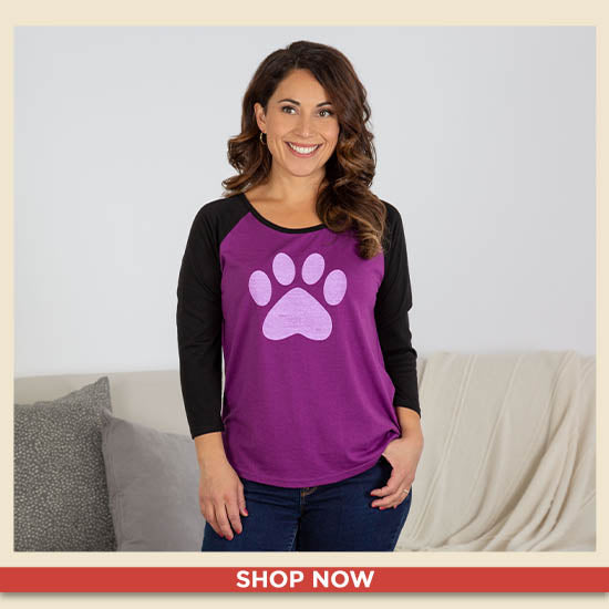 Paw Perfection Scoop Neck Baseball Tee - Shop Now
