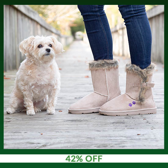 Purple Paw Classic Buckle Boot - 42% OFF