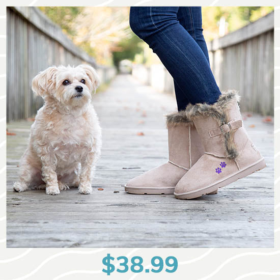 Purple Paw Classic Buckle Boot - $38.99