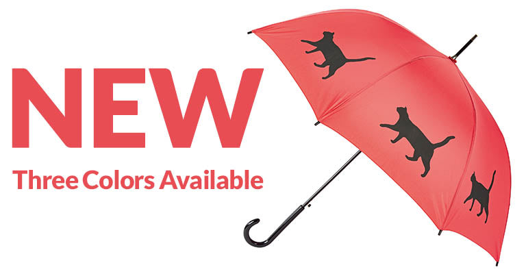 Cat Silhouette Umbrella | New | Three Colors Available