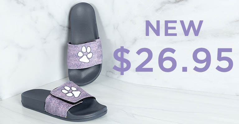 Delightful Paws Adjustable Slide Sandals | New | $26.95