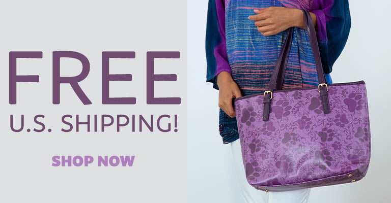 Purple Paws in Bloom Bags | FREE U.S. Shipping!