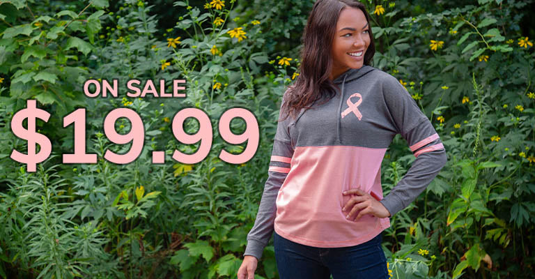 Believe Pink Ribbon Two-Toned Hooded Tee   $19.99