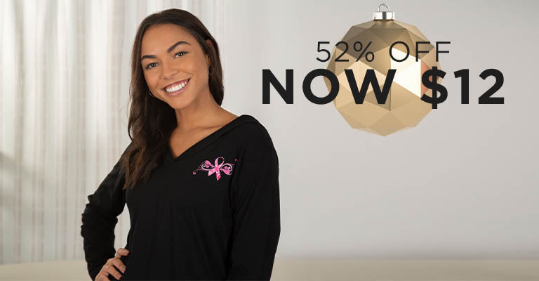 Pink Ribbon Butterfly Lightweight Hooded Tunic | 52% OFF | Now $12
