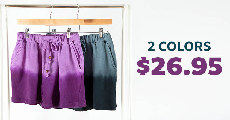 Casual Ombre Shorts | $26.95 | 2 Colors