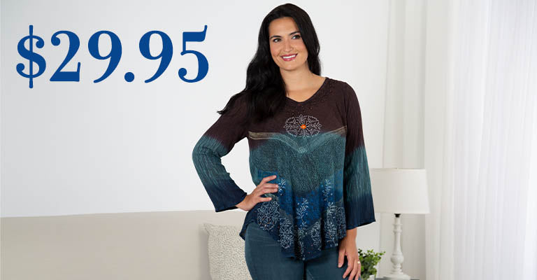 Earth & Sky Long Sleeve Tunic | $29.95
