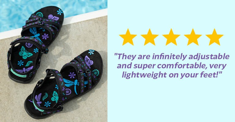 Ultralite™ Fluttering Friends Strappy Sport Sandals | ★★★★★ -