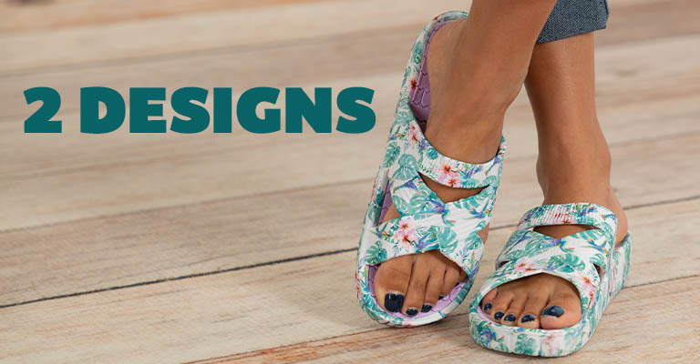 Bright Blooming Criss-Cross Sandals | 2 Designs