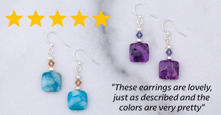 Crazy Lace Agate Earrings | ★★★★★