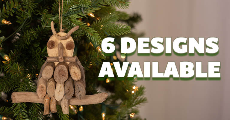 Handmade Recycled Driftwood Ornament | 6 Designs Available