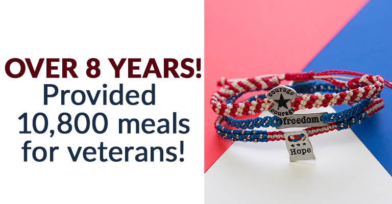 Courage, Hope, & Freedom Woven Bracelets Set | Over 8 Years! | Provided 10,800 meals for veterans