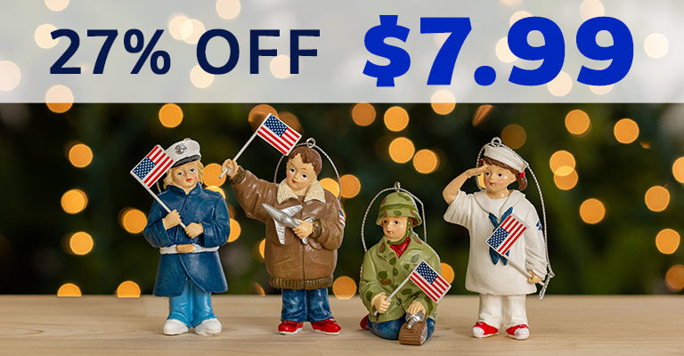 Little Heroes Military Branch Ornament | $7.99 | 27% OFF