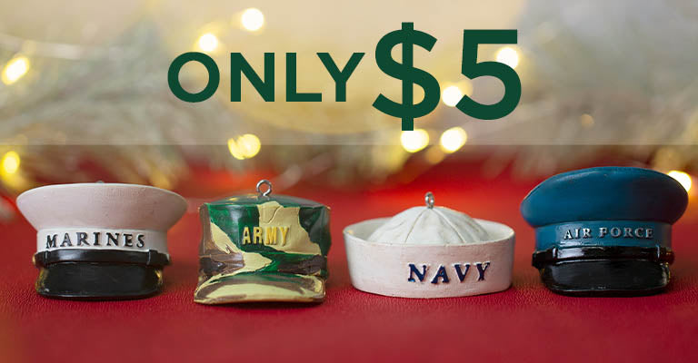 Military Hat Ornament | Only $5