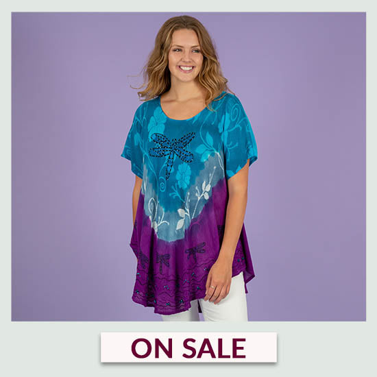 Dragonfly Blues Tunic - On Sale