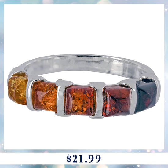 Amber Ombre & Sterling Ring - $21.99