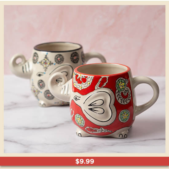 Elephant in the Garden Grande Mug - $9.99