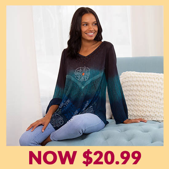 Earth Sky Long Sleeve Tunic - Now $20.99