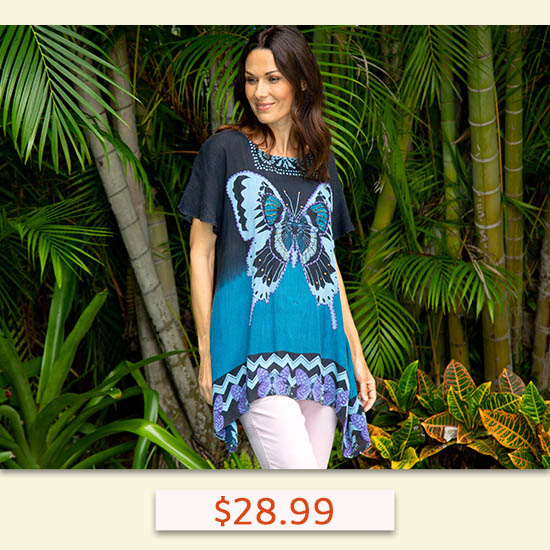 Butterfly Kisses Oversize Top - $28.99