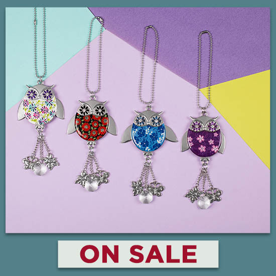 Wise in Love Owl Car Charm