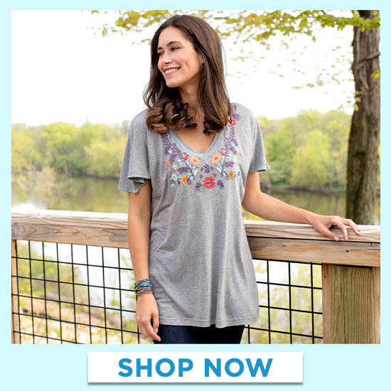 Mystic Garden Embroidered Top