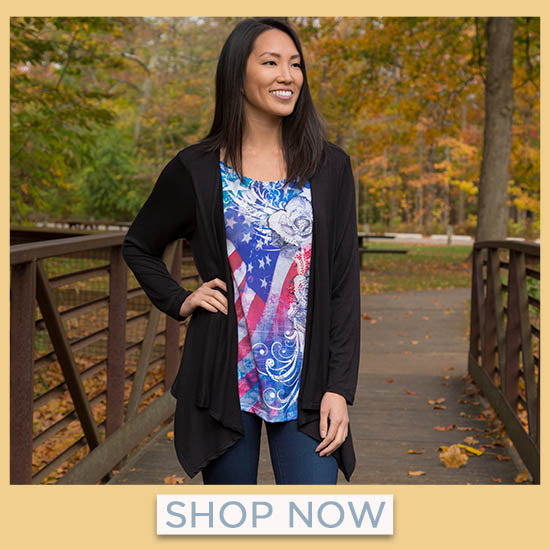 American Flag Roses Cardigan Top - Shop Now
