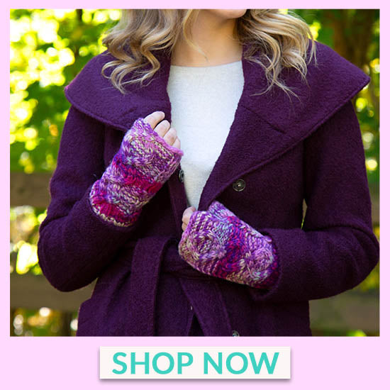 Cable Knit Fingerless Mittens - Shop Now