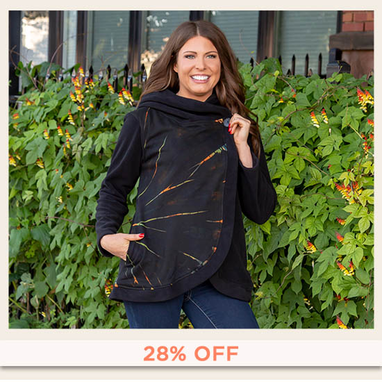 Sunset Fleece Wrap Jacket - 28% OFF