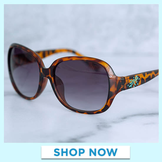 Dragonfly Flight Tortoise Shell Sunglasses