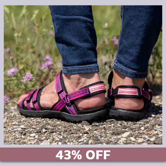 Ultralite™ Pink Ribbon Strappy Sport Sandals - 43% OFF