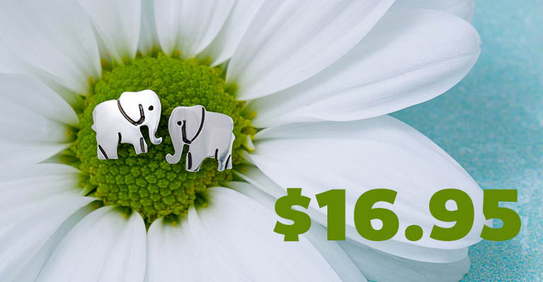 Proud Elephant Sterling Post Earrings | $16.95