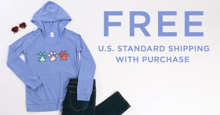 Playful Paws Long Sleeve Hooded Tee | FREE U.S. Standard Shipping with Purchase