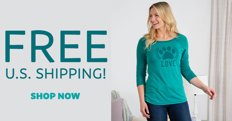 Paw Love Two-Toned Baseball Tee | FREE U.S. Shipping!