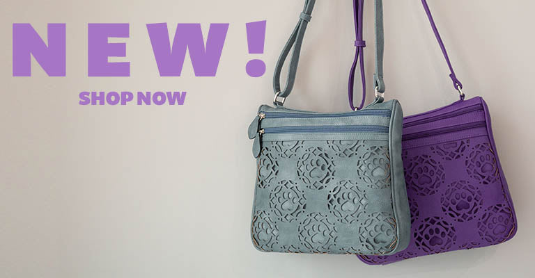 New! | Paw Print Bouquet Crossbody Bag | Shop Now!