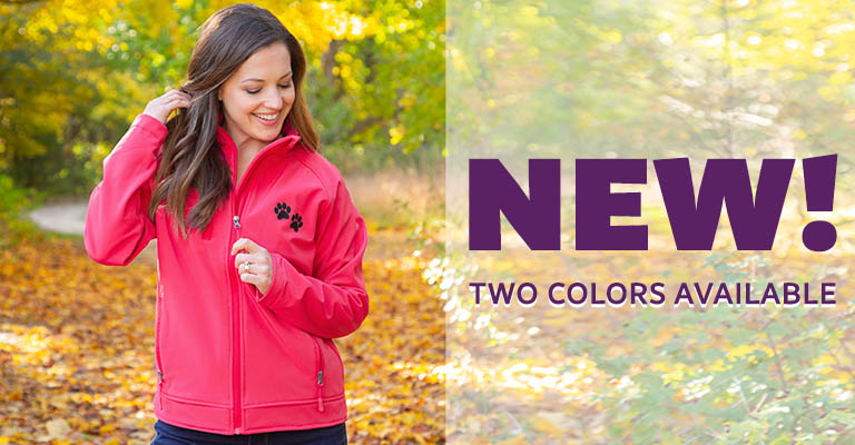 Paw Print Softshell Zip Jacket | New! | Two Colors Available