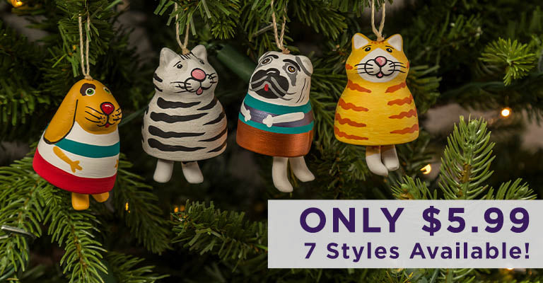 Fat Pet Bell Ornament | Only $5.99 | 7 Styles Available!