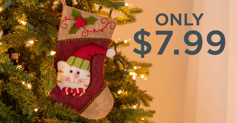 Santa Pet Stocking Ornament | Only $7.99