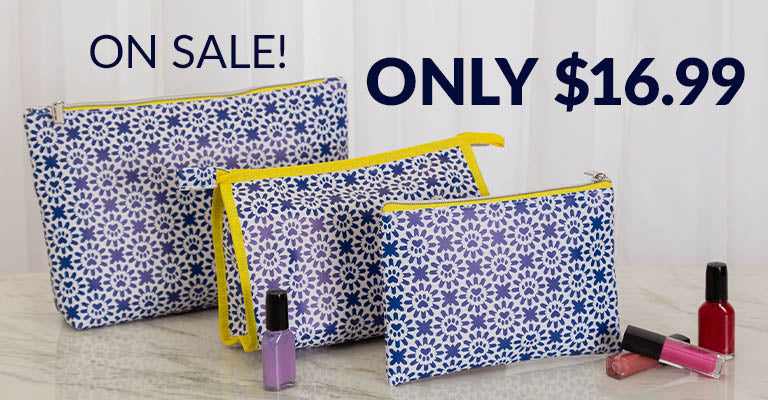 Indigo Paws Cosmetic Bag Set | On Sale! Only $16.99