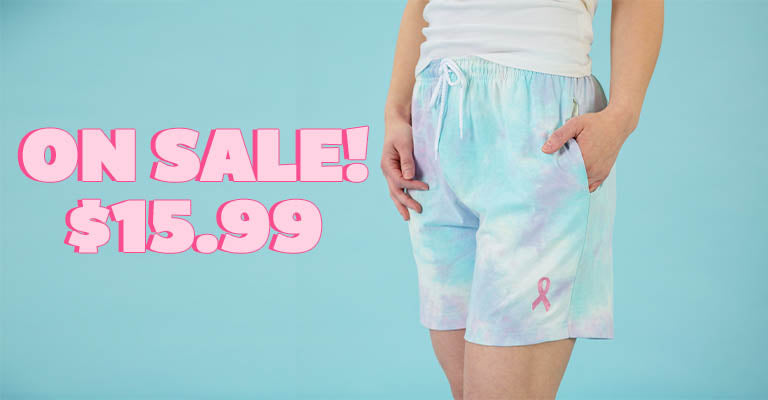 Pink Ribbon Tie-Dye Casual Shorts | On Sale! | $15.99