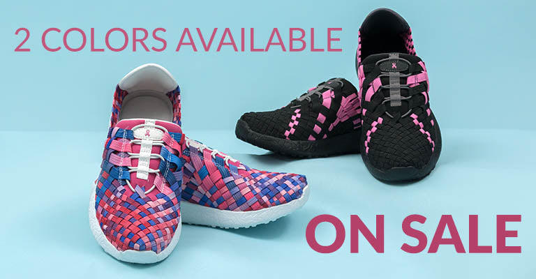 Pink Ribbon Woven Walking Shoes | On Sale | 2 Colors Available