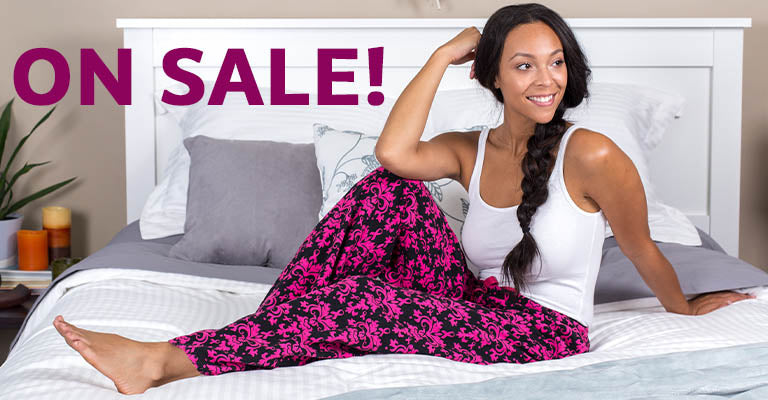 Baroque Pink Ribbon Flannel Lounge Pants | On Sale!