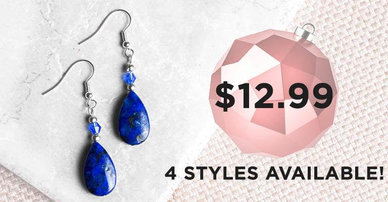Stone Teardrop Earrings | 4 Styles Available! | $12.99