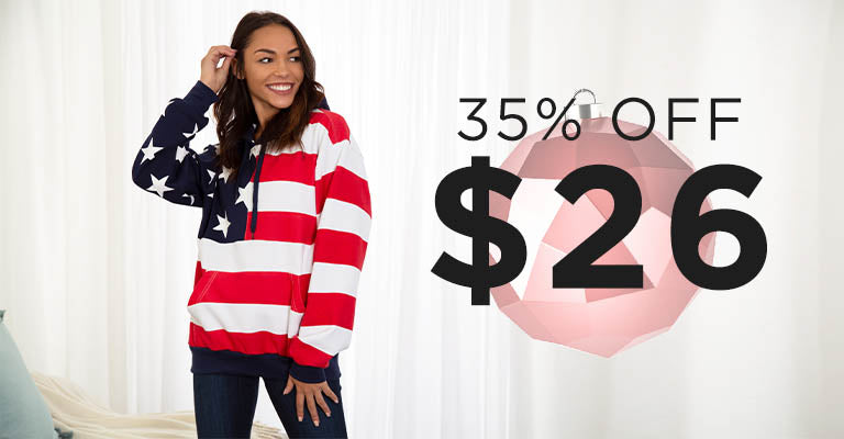 American Flag Sweatshirt | 35% OFF | $26